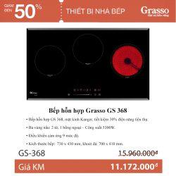 Bếp hỗn hợp Grasso GS 368
