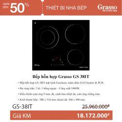 Bếp hỗn hợp Grasso GS 38 IT