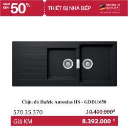 Chậu đá đen Hafele Antonius HS - GDD11650