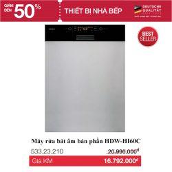 Máy rửa bát kính đen HDW-HI60C